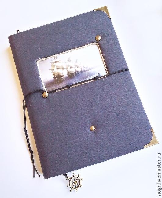 """Блокноты ручной работы. Ярмарка Мастеров - ручная работа. Купить Блокнот ручной работы """"Морской"""". Handmade. Тёмно-синий, бумага"""