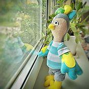 Куклы и игрушки ручной работы. Ярмарка Мастеров - ручная работа Птичка из флиса. Handmade.