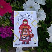 Открытки handmade. Livemaster - original item Postcard with folk doll Pock