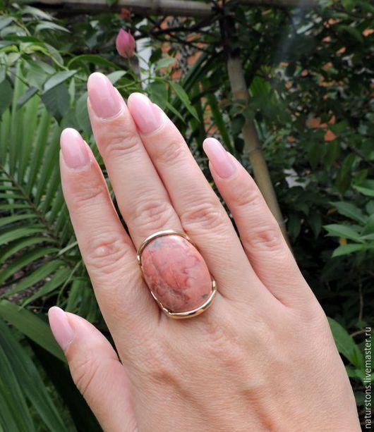 Кольца ручной работы. Ярмарка Мастеров - ручная работа. Купить кольцо с говлитом Розовое искушение 2. Handmade. Розовый