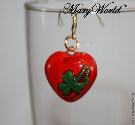 """Кулоны, подвески ручной работы. Ярмарка Мастеров - ручная работа. Купить Кулон """"Росток любви"""". Handmade. Ярко-красный, сердце"""