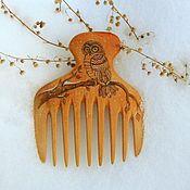"""Гребни ручной работы. Ярмарка Мастеров - ручная работа Гребень для волос  деревянный """"Сова"""". Handmade."""