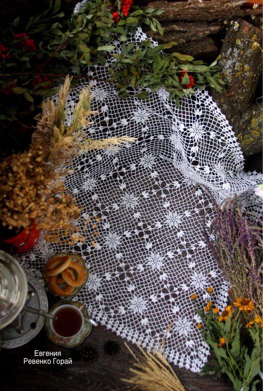 """Текстиль, ковры ручной работы. Ярмарка Мастеров - ручная работа. Купить Скатерть крючком """"восхищение"""" Ручная работа. Скатерть мотивами.. Handmade."""