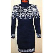 Одежда handmade. Livemaster - original item Sweater dress knit with a Norwegian ornament Starfall. Handmade.