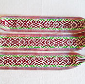 Русский стиль handmade. Livemaster - original item Sash Svarozhich, belobog, Perunov color, Veles. Handmade.
