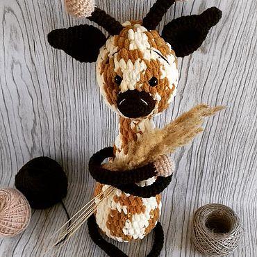 Куклы и игрушки ручной работы. Ярмарка Мастеров - ручная работа Мягкие игрушки: Жираф. Handmade.