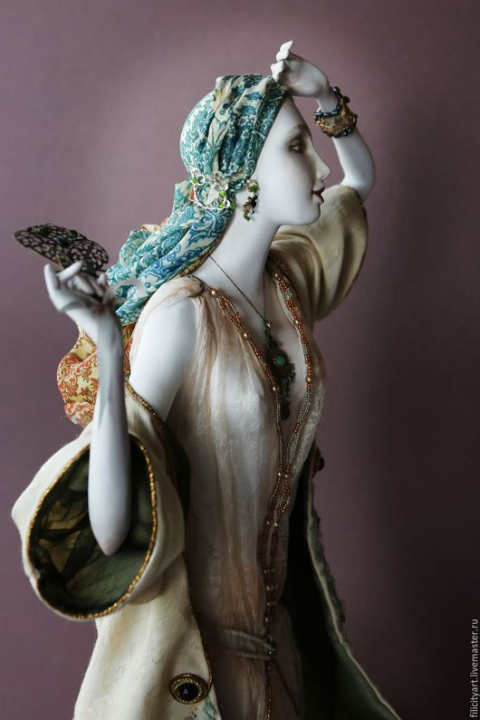 Коллекционные куклы ручной работы. Ярмарка Мастеров - ручная работа. Купить Полуденный зной. Handmade. Авторская кукла, Философия, акварель