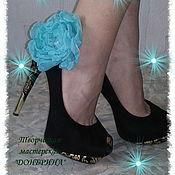 """Украшения ручной работы. Ярмарка Мастеров - ручная работа Клипсы на обувь """"Тиффани"""". Handmade."""