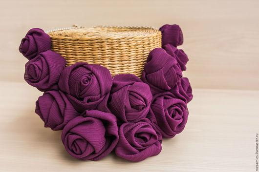 Колье, бусы ручной работы. Ярмарка Мастеров - ручная работа. Купить Колье из текстиля ткани «Фиолетовый закат» пурпурный. Handmade.
