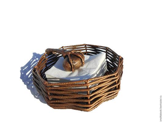 Кухня ручной работы. Ярмарка Мастеров - ручная работа. Купить Салфетница  из металла Цвет меди Гнездо Яйцо Воровка. Handmade.
