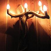 Для дома и интерьера ручной работы. Ярмарка Мастеров - ручная работа Светильник - бра 4-х рожковое. Handmade.