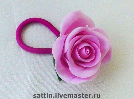 Заколки ручной работы. Ярмарка Мастеров - ручная работа. Купить Роза - резинка для волос. Handmade. Заколка с цветами