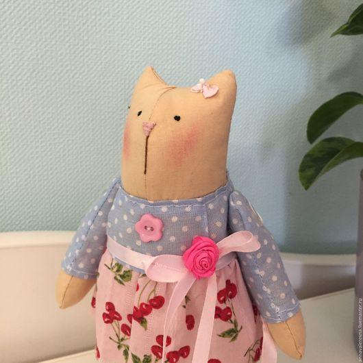 Куклы Тильды ручной работы. Ярмарка Мастеров - ручная работа. Купить Кошка. Handmade. Тильда кошка, кошечка, текстильная игрушка