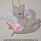 Куклы и игрушки ручной работы. Ярмарка Мастеров - ручная работа котик Тильда -летун ангел новорожденных. Handmade.