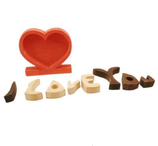 """Подарки для влюбленных ручной работы. Ярмарка Мастеров - ручная работа. Купить пазл """"Сердце сюрприз"""". Handmade. Пазл-сердце, дерево"""