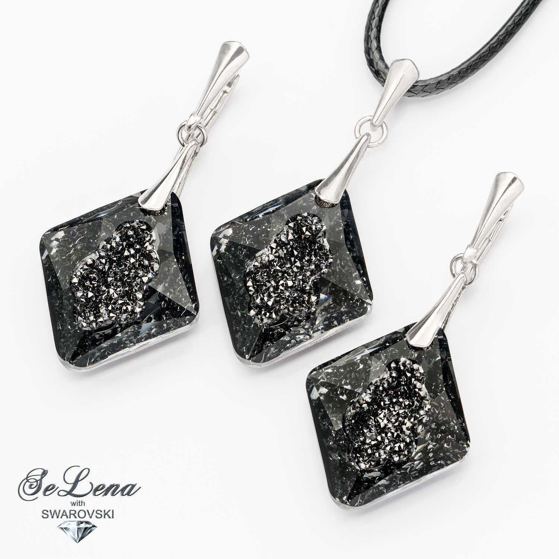 --10% Silver Swarovski set_ Set with Swarovski crystals, Jewelry Sets, St. Petersburg,  Фото №1