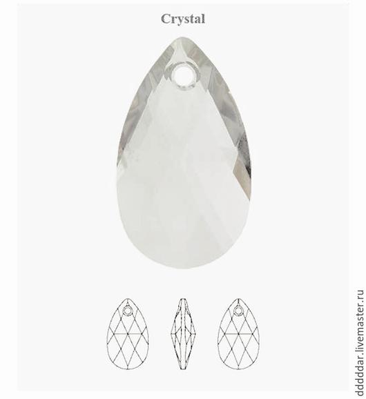 Для украшений ручной работы. Ярмарка Мастеров - ручная работа. Купить Swarovski 6106 22 х 16 мм Crystal - прозрачный. Handmade.