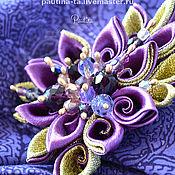 """Украшения ручной работы. Ярмарка Мастеров - ручная работа Брошь """" Королевский пурпур"""". Handmade."""