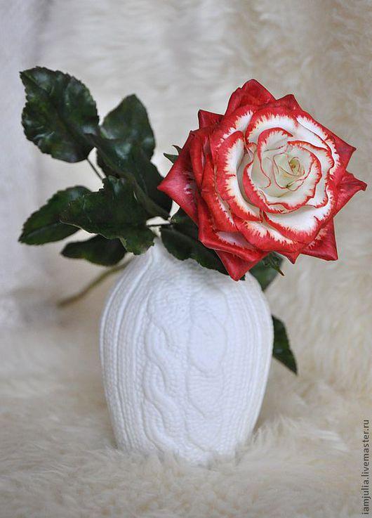 Искусственные растения ручной работы. Ярмарка Мастеров - ручная работа. Купить Цветок из Полимерной глины Рождественская Роза. Handmade.