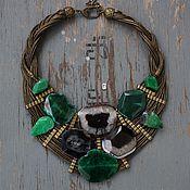 Украшения handmade. Livemaster - original item Bib Necklace Moss agate. Handmade.