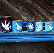 """Посуда ручной работы. Ярмарка Мастеров - ручная работа Семейный набор кружек """"Ку-ка-ре-ку"""". Handmade."""
