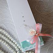 Свадебный салон ручной работы. Ярмарка Мастеров - ручная работа Приглашения в коробочке № 4. Handmade.