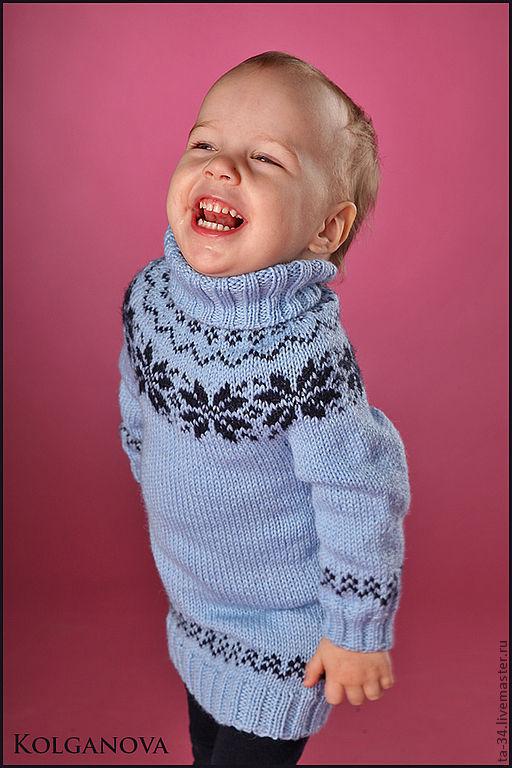 """Одежда для девочек, ручной работы. Ярмарка Мастеров - ручная работа. Купить Платье """"Снежинки"""". Handmade. Синий, полушерсть"""