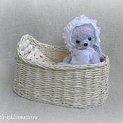 Куклы и игрушки ручной работы. Ярмарка Мастеров - ручная работа зайка Глашенька (и люлька). Handmade.