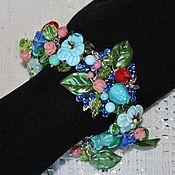 Украшения handmade. Livemaster - original item Bracelet lampwork floral Summer garden. Handmade.