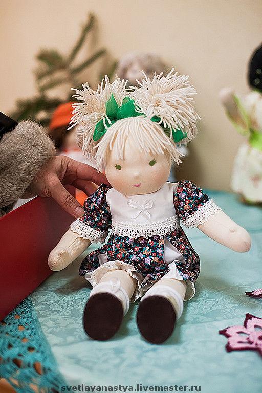 """Вальдорфская игрушка ручной работы. Ярмарка Мастеров - ручная работа. Купить Вальдорфская кукла """"Грушенька"""". Handmade. Хлопок шерсть кожа"""
