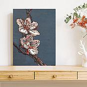 """Картины и панно handmade. Livemaster - original item The painting on wood 40x30sm """"Sakura"""". Handmade."""