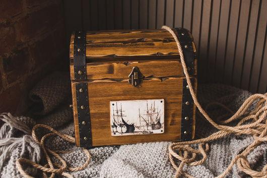 сундук пиратский ( деревянный сундук, сундучок для хранения)