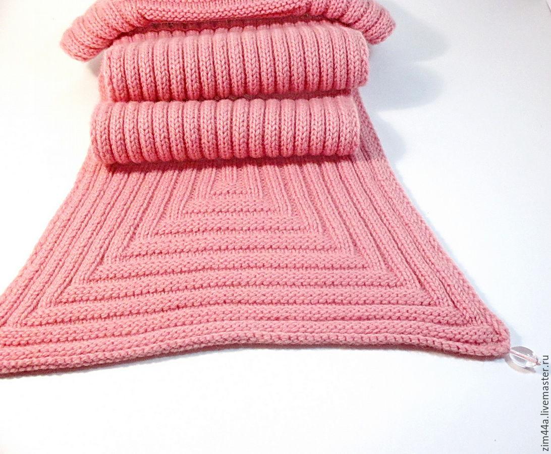 Вязание шарфов из шерсти 119