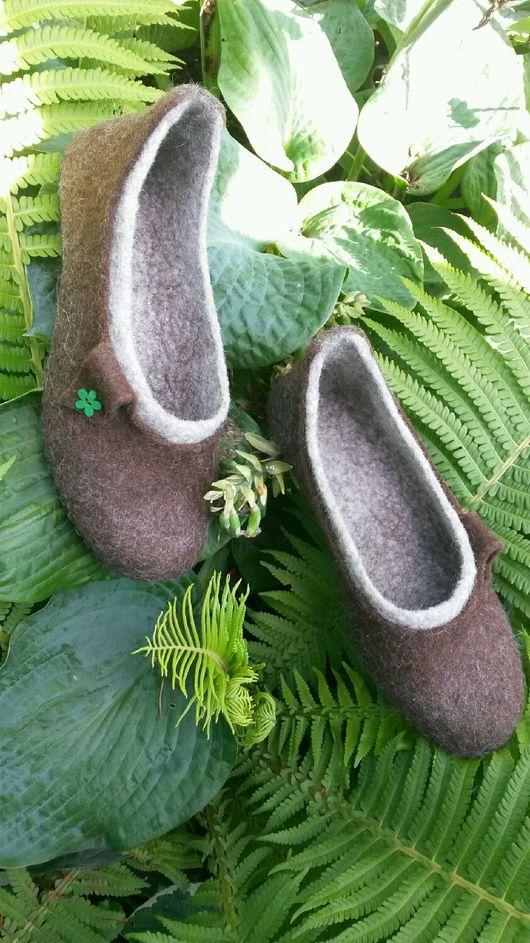 Обувь ручной работы. Ярмарка Мастеров - ручная работа. Купить Домашние тапочки. Handmade. Обувь ручной работы, тапочки из шерсти