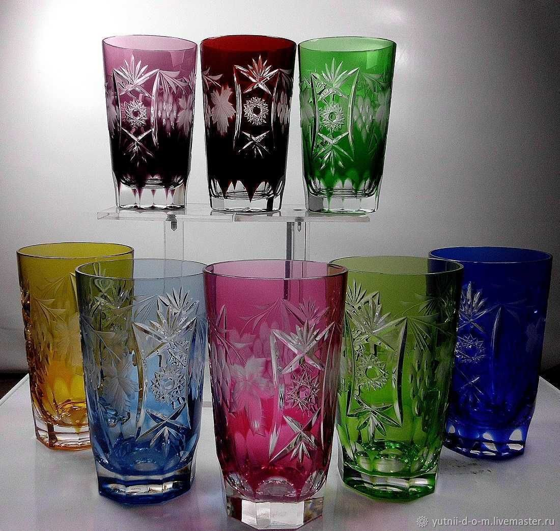 Glasses juice water crystal, Nachtmann Nachtmann, Vintage glasses, Moscow,  Фото №1