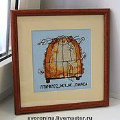 """Картины и панно ручной работы. Ярмарка Мастеров - ручная работа """"Птичку не видел.."""". Handmade."""