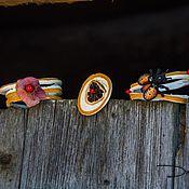"""Украшения ручной работы. Ярмарка Мастеров - ручная работа браслеты и брошь """"Гармония моей души"""". Handmade."""