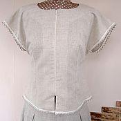 Одежда ручной работы. Ярмарка Мастеров - ручная работа Блузка летняя льняная. Handmade.