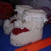 Аксессуары ручной работы. Ярмарка Мастеров - ручная работа Пинетки для новорожденного. Handmade.