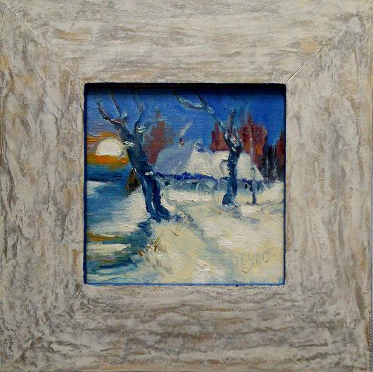 Натюрморт ручной работы. Ярмарка Мастеров - ручная работа. Купить Теплая зима. Handmade. Картина, картина в подарок