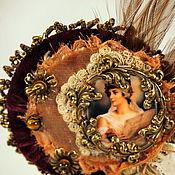 """Украшения ручной работы. Ярмарка Мастеров - ручная работа Брошь""""леди-винтаж"""". Handmade."""
