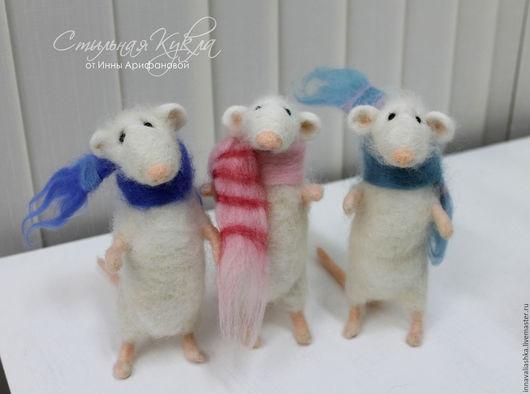 Игрушки животные, ручной работы. Ярмарка Мастеров - ручная работа. Купить Крысята. Handmade. Белый, мышка игрушка, крысенок, крысята