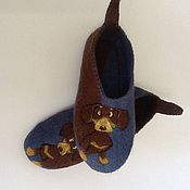 """Обувь ручной работы. Ярмарка Мастеров - ручная работа Тапочки """"Такса"""". Handmade."""