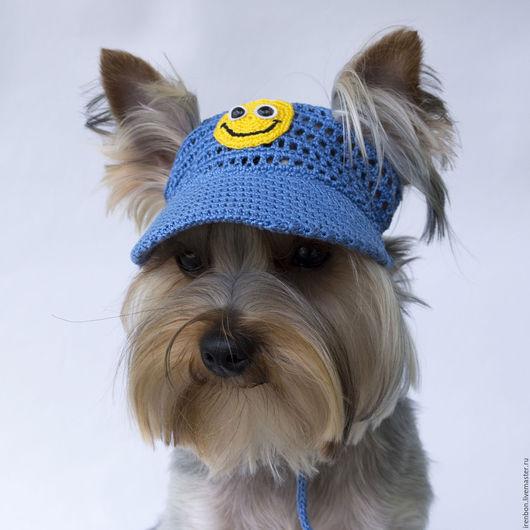 Одежда для собак, ручной работы. Ярмарка Мастеров - ручная работа. Купить Кепка для собаки Смайлик, Шапка для собаки, Одежда для собак. Handmade.