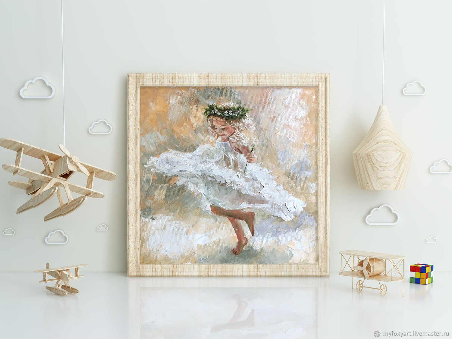 Dancing girl, painting in the nursery, childhood, Pictures, St. Petersburg,  Фото №1
