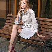 Одежда ручной работы. Ярмарка Мастеров - ручная работа Платье-рубашка из хлопка. Handmade.