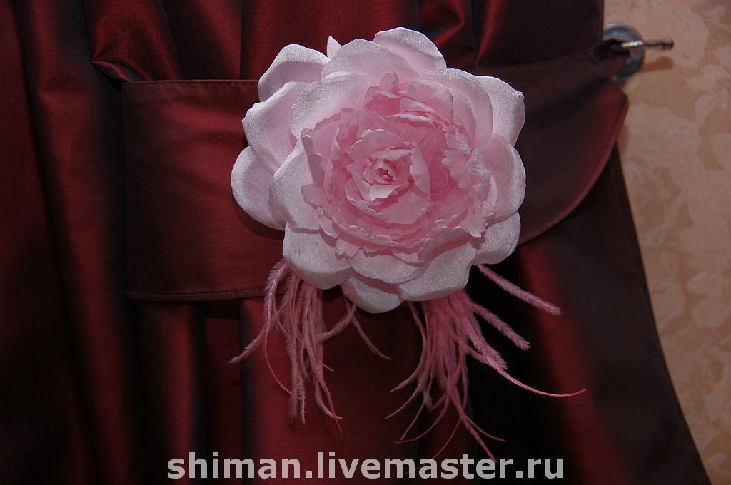 Как сделать розы своими руками для штор 28