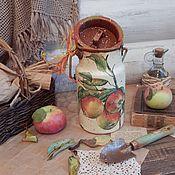 """Посуда ручной работы. Ярмарка Мастеров - ручная работа Бидон """"Яблочки"""". Handmade."""