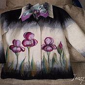 """Одежда ручной работы. Ярмарка Мастеров - ручная работа Жакет """"Ирисы"""". Handmade."""