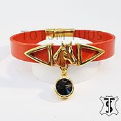Украшения handmade. Livemaster - original item Stylish leather bracelet...for Her Art: 18000110. Handmade.